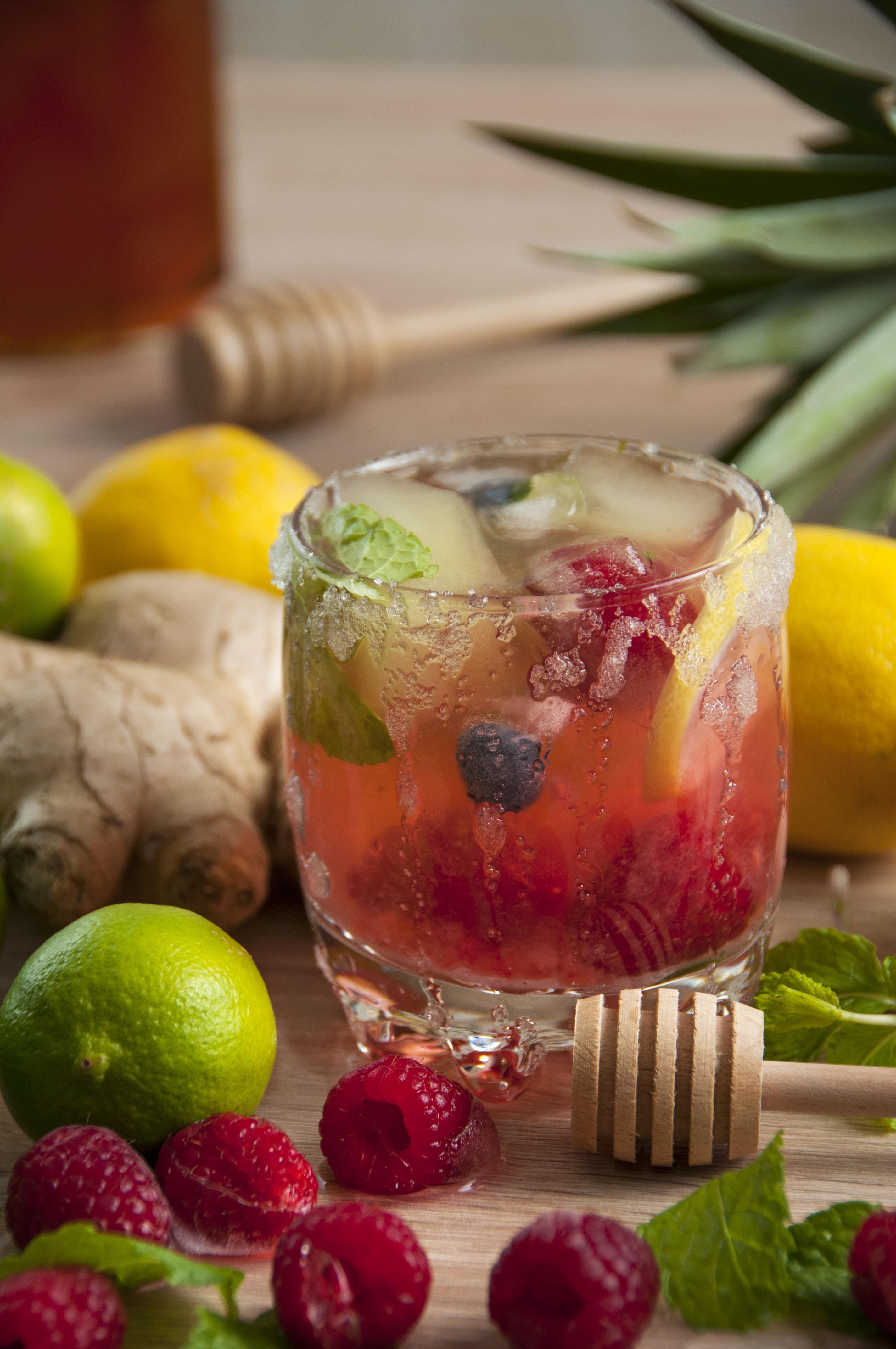 Baccardi Razz Cocktail mit Sprite