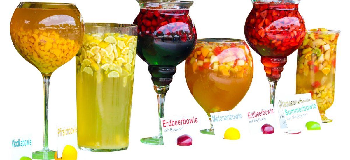 Alkoholfreie Erdbeer-Melonen-Bowle